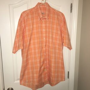 Burberry Short Sleeve Button Up Size Large